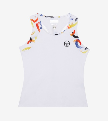 ABSTRACT TANK TOP [WHITE/BLACK]