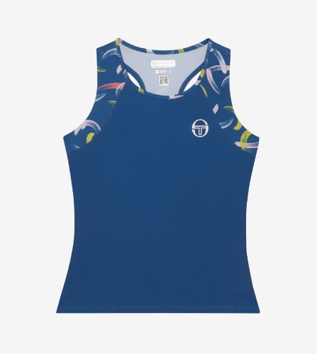 ABSTRACT TANK TOP [FEDERAL BLUE/WHITE]