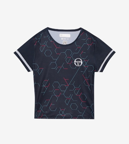 PERSPECTIVE JRF T-SHIRT [NAVY/PINK YARROW]