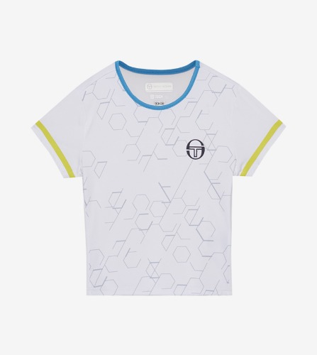 PERSPECTIVE JRF T-SHIRT [WHITE/LIMEADE]