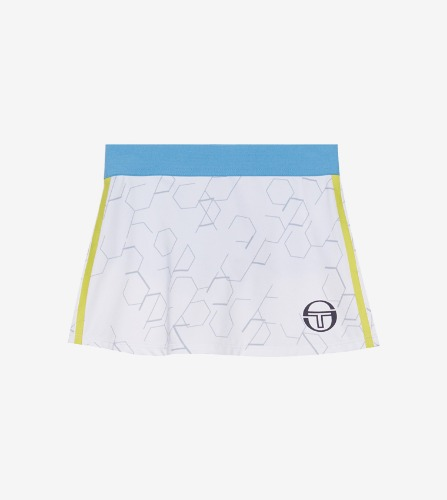 PERSPECTIVE JRF SKORT [WHITE/LIMEADE]