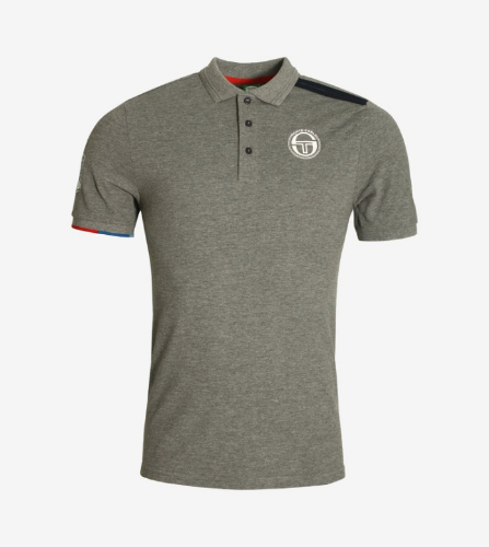 IELIN POLO [DARK GREY MELANGE/NAVY]