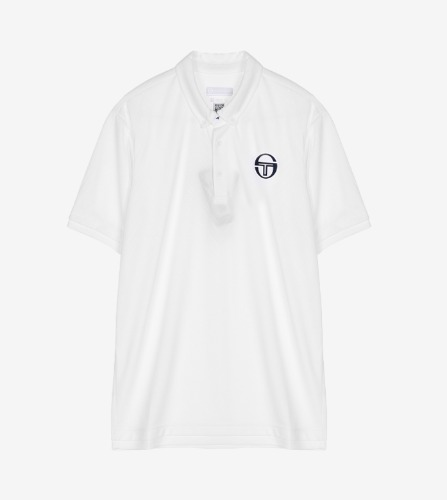 CHEVRON POLO [WHITE/NAVY]