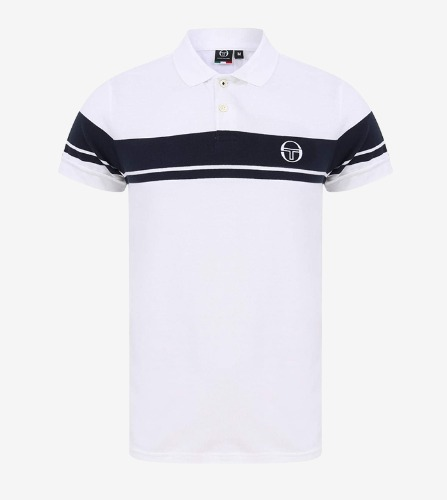 YOUNG LINE POLO ARCHIVIO  [WHITE/NAVY]