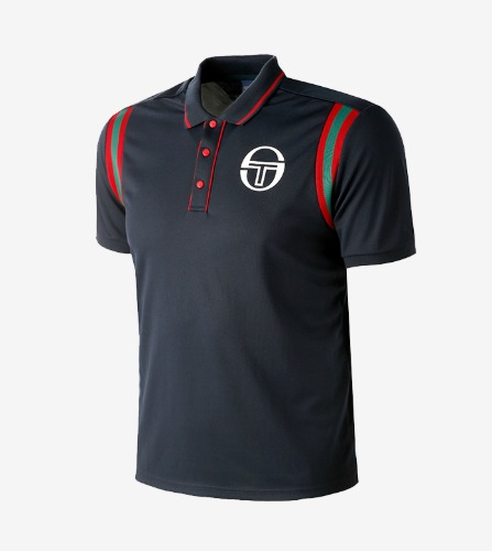 FRISCO/MC/STAFF POLO  [NAVY/APPLE RED]