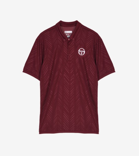 CHEVRON JR POLO [BORDEAUX/WHITE]